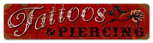 Vintage-Retro Tattoos Piercing Metal-Tin Sign