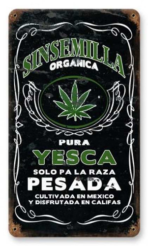 Vintage-Retro Sinsemilla Metal-Tin Sign