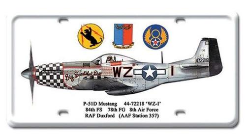 Vintage-Retro P-51D Mustang License Plate