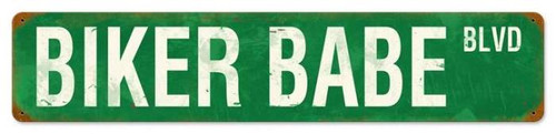 Vintage-Retro Biker Babe Blvd Metal-Tin Sign