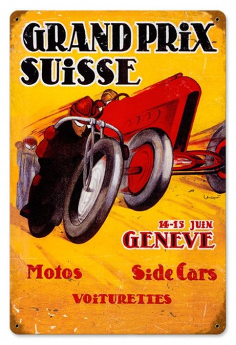 Vintage-Retro Grand Prix Suisse Metal-Tin Sign