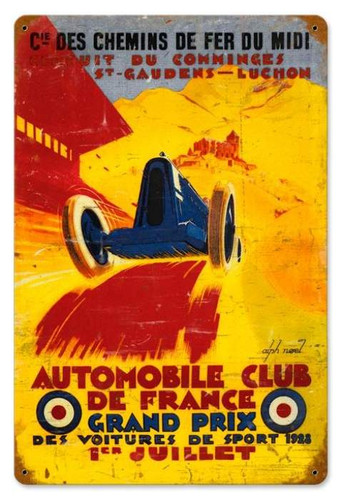 Vintage-Retro France Grand Prix Metal-Tin Sign