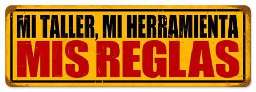 Vintage-Retro Mis Reglas Metal-Tin Sign