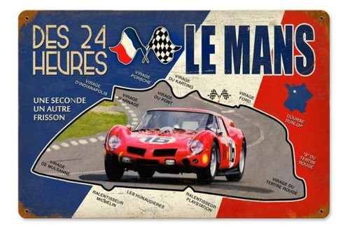 Vintage-Retro Le Mans 24 Hour Metal-Tin Sign