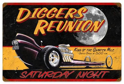 Vintage-Retro Diggers Reunion Metal-Tin Sign