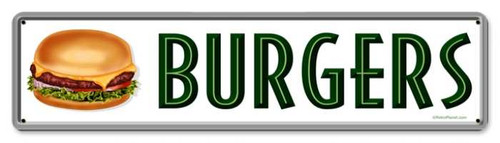 Vintage-Retro Burgers Metal-Tin Sign
