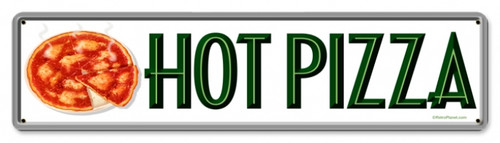 Vintage-Retro Hot Pizza Metal-Tin Sign 1