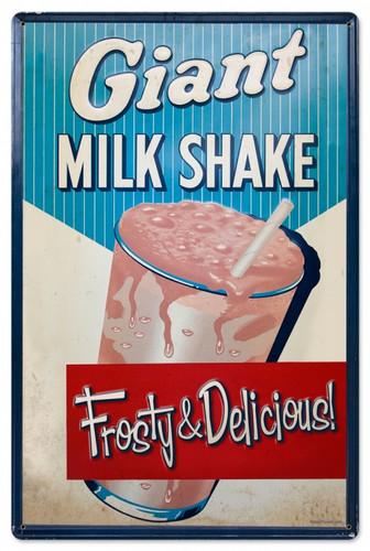 Vintage-Retro Milk Shake Metal-Tin Sign LARGE