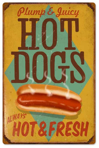 Vintage-Retro Hot Dogs Metal-Tin Sign 3