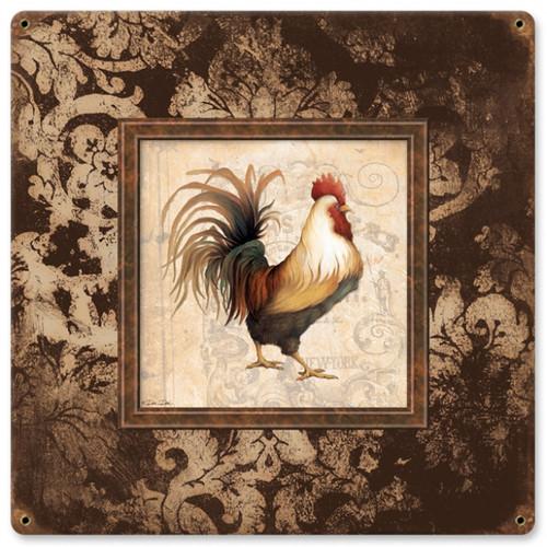 Vintage-Retro Rooster Frames Metal-Tin Sign