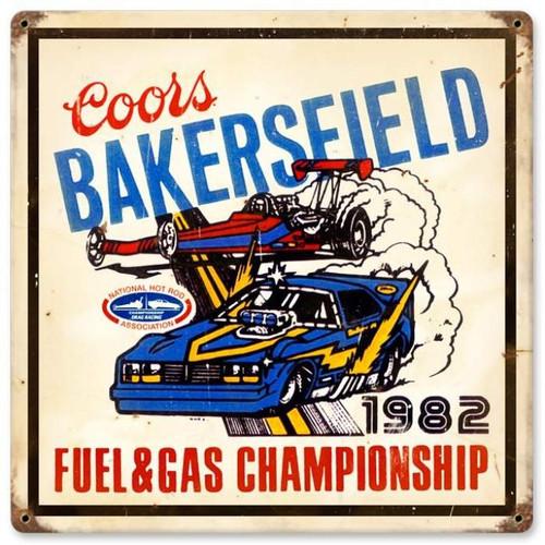 Vintage-Retro Bakersfield Coors Metal-Tin Sign