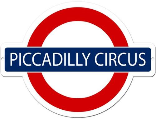 Vintage-Retro Piccadilly Circus Metal-Tin Sign