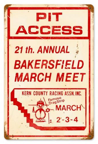 Vintage-Retro Bakersfield 21st Metal-Tin Sign