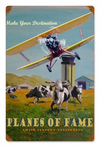Vintage-Retro Planes of Fame Metal-Tin Sign