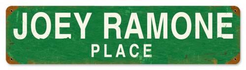 Vintage-Retro Joey Ramone Place Metal-Tin Sign