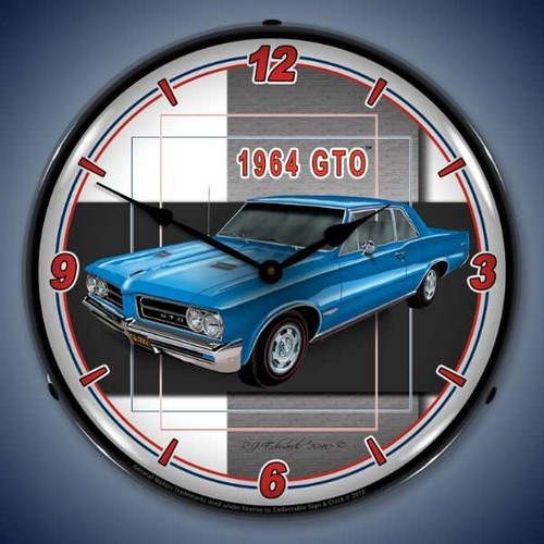 Vintage-Retro  1964 GTO Lighted Wall Clock