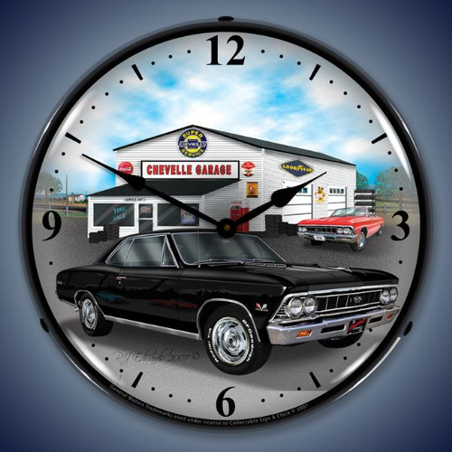 Vintage-Retro  1966 Chevelle Lighted Wall Clock