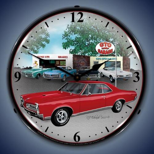 Vintage-Retro  1967 GTO Lighted Wall Clock