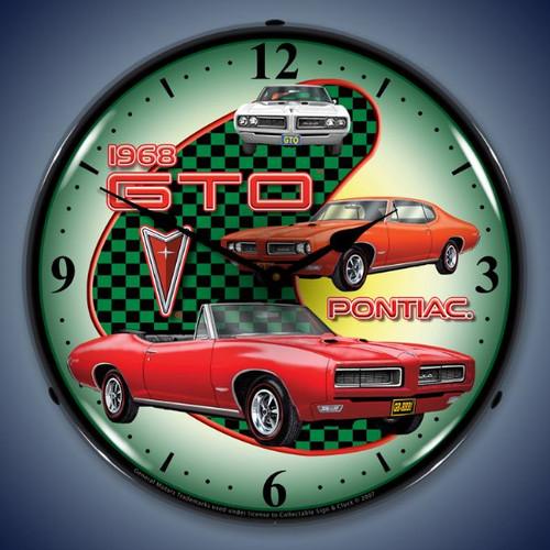 Vintage-Retro  1968 Pontiac GTO Lighted Wall Clock