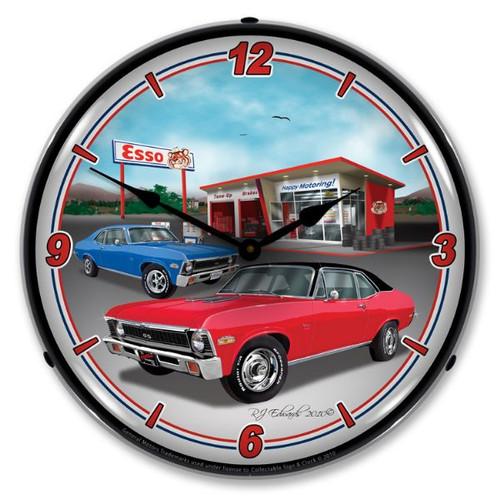 1970  Nova Lighted Wall Clock