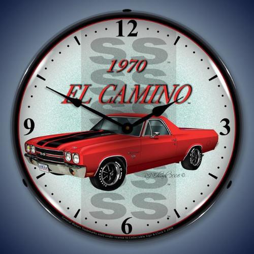 Vintage-Retro  1970 El Camino Lighted Wall Clock