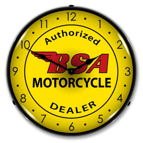 BSA Motorcycle Lighted Wall Clock