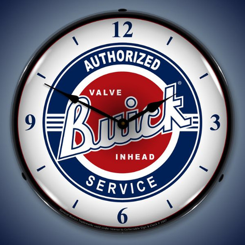 Vintage-Retro  Buick Service w/numbers Lighted Wall Clock