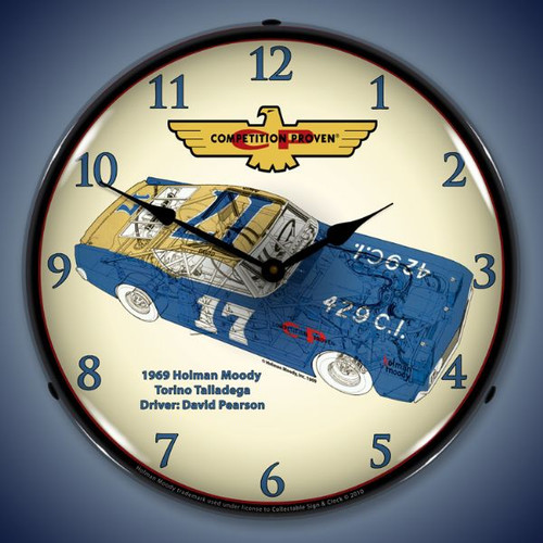 Vintage-Retro  Holman Moody Torino Lighted Wall Clock