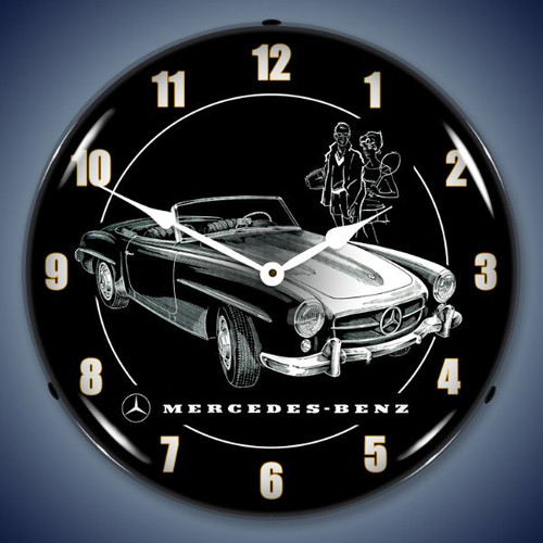 Vintage-Retro  Mercedes Lighted Wall Clock