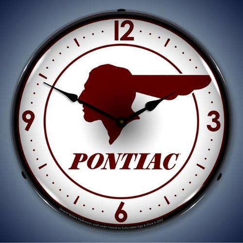 Vintage-Retro  Pontiac Indian Lighted Wall Clock