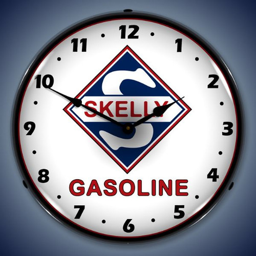 Vintage-Retro  Skelly Gas Lighted Wall Clock