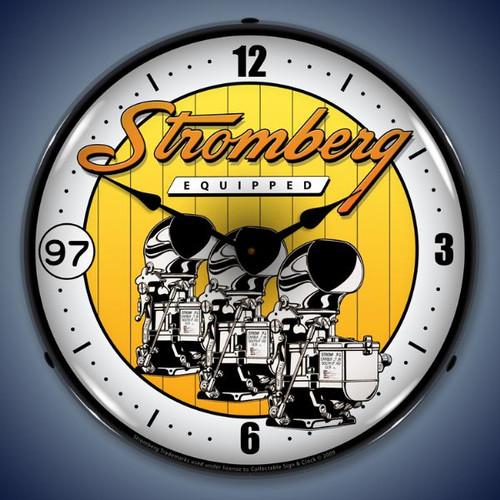 Vintage-Retro  Stromberg Carburetor Lighted Wall Clock