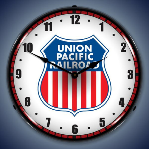 Vintage-Retro  Union Pacific Railroad Lighted Wall Clock