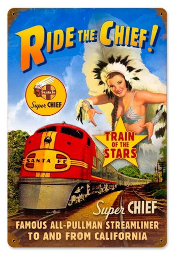 Vintage-Retro Super Chief Metal-Tin Sign