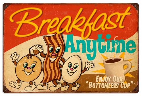 Vintage-Retro Breakfast Tin-Metal Sign