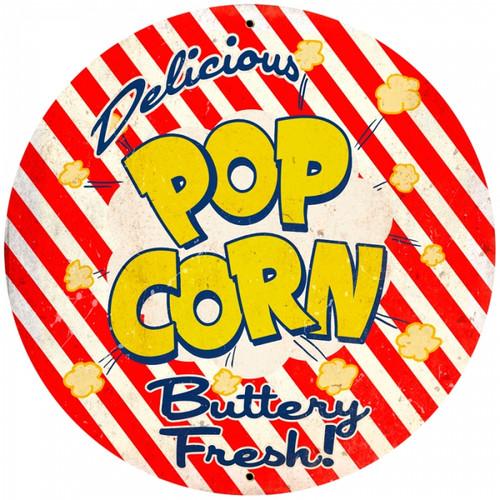 Vintage-Retro Popcorn Tin-Metal Sign LARGE