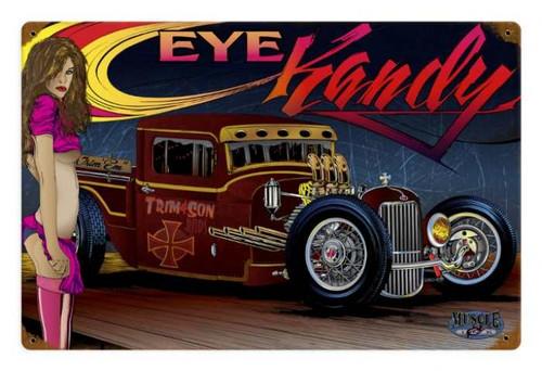 Vintage Rat Rod Eye Kandy Metal Sign