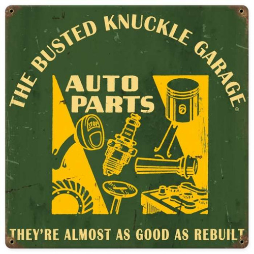 Vintage  Auto Parts Metal Sign