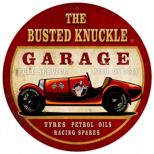 Vintage  Old Race Car Tin Sign 4