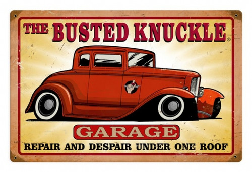 Vintage  Busted Knuckle Garage Metal Sign 8