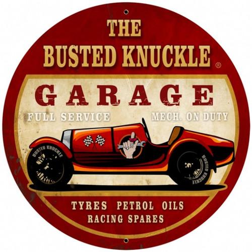 Vintage  Old Race Car Tin Sign 3