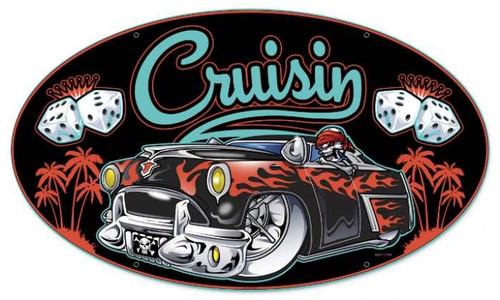Retro Cruisin Metal Sign