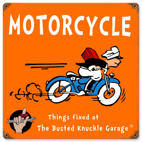 Vintage Kids Motorcycle 12 x 12 inches Tin Sign