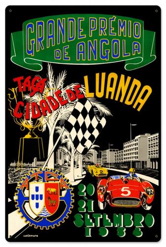 Vintage Angola Grand Prix 24 x 16 inches Tin Sign