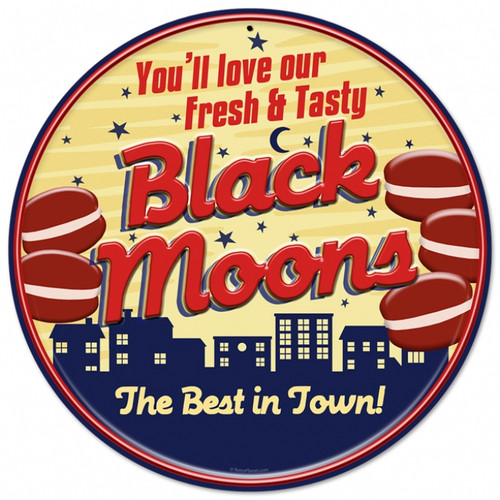 Retro Black Moons Tin Sign 14 x 14  Inches