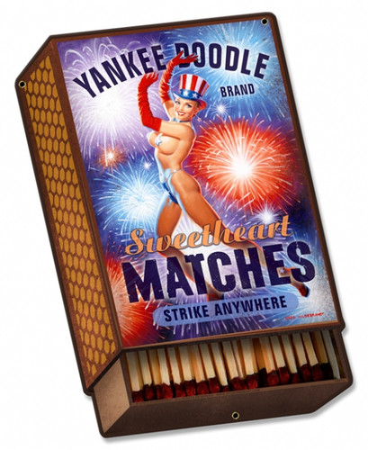 Retro Yankee Doodle Tin Sign 14 x 21  Inches