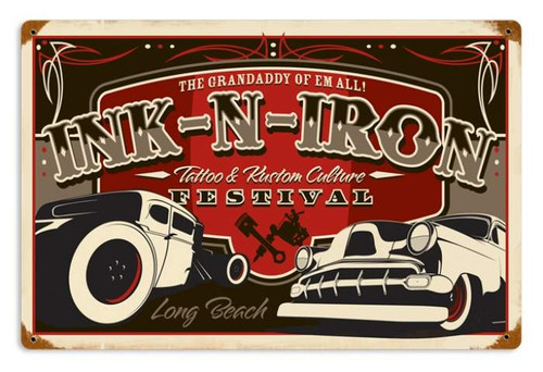 Vintage-Retro Long Beach Festival Metal-Tin Sign