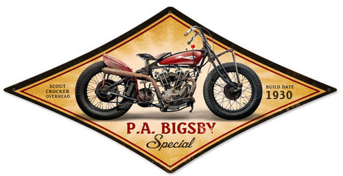 Retro PA Bigsby Metal Sign 22 x 14 Inches