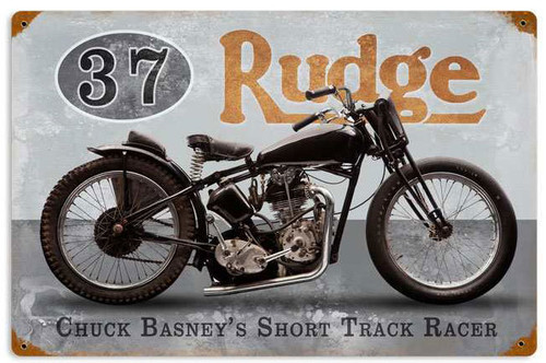 Retro Basneys Rudge Metal Sign 18 x 12 Inches