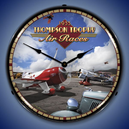 Vintage Air Races Lighted Wall Clock
